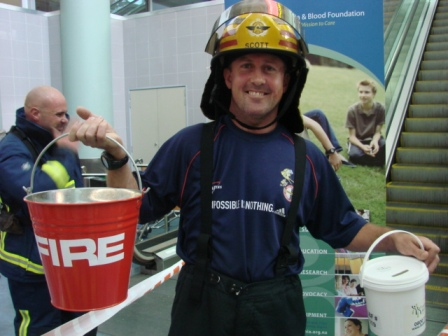 Tony Scott fundraising for the Skytower firefighter stairclimb